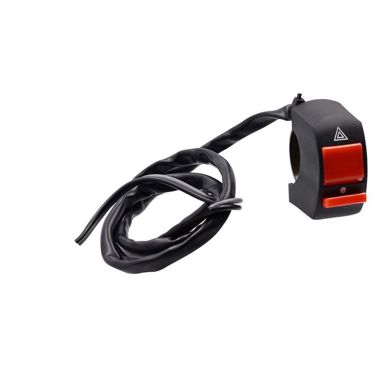 Manubrio per moto ATV con interruttore per luce di segnalazione 7//8
