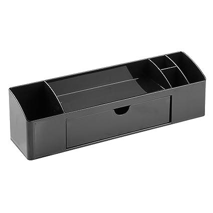 InterDesign Drawers Portalápices | Accesorio de oficina con 5 compartimentos y 1 cajón | Organizador de