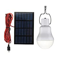 15W Solar Panel Powered LED Bulb Light P...