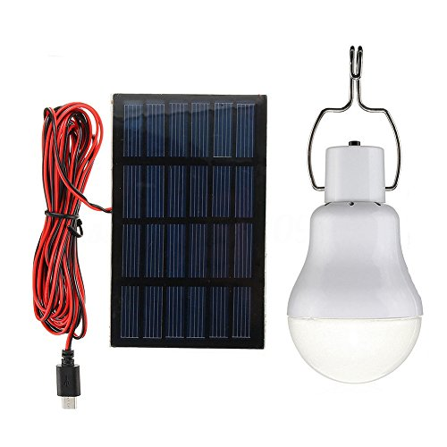 15W Solar Panel Powered LED Bulb Light Portable Outdoor Camping Tent Energy Lamp