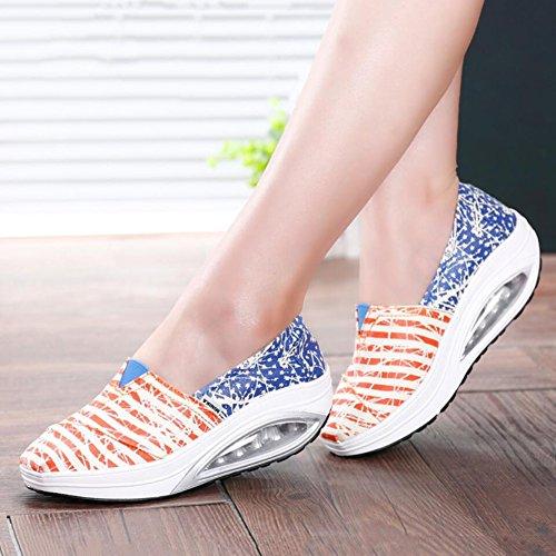 Slip Primavera Mocasines mujer Conducci y Ons Oto Lienzo o Zapatos de qPn8UU
