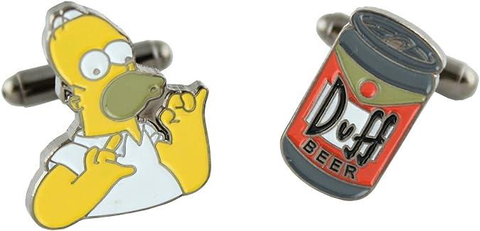 MasGemelos Gemelos Homer Simpsons & Cerveza Duff: Amazon.es: Joyería