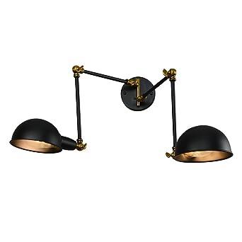 2 Lampen + Edison Vintage industrielle Loft Verstellbarer Schwenkarm ...