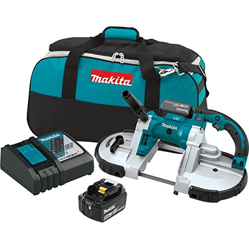 Makita XBP02TX 18V LXT Lithium-Ion Cordless Portable Band Saw Kit (5.0Ah),