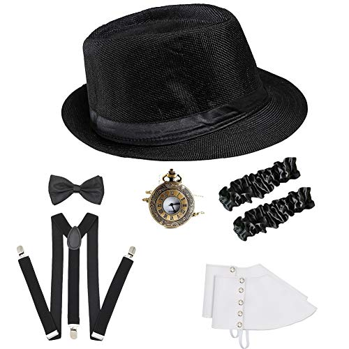 ICEVOG Mens 1920s Accessories Set Gatsby Gangster