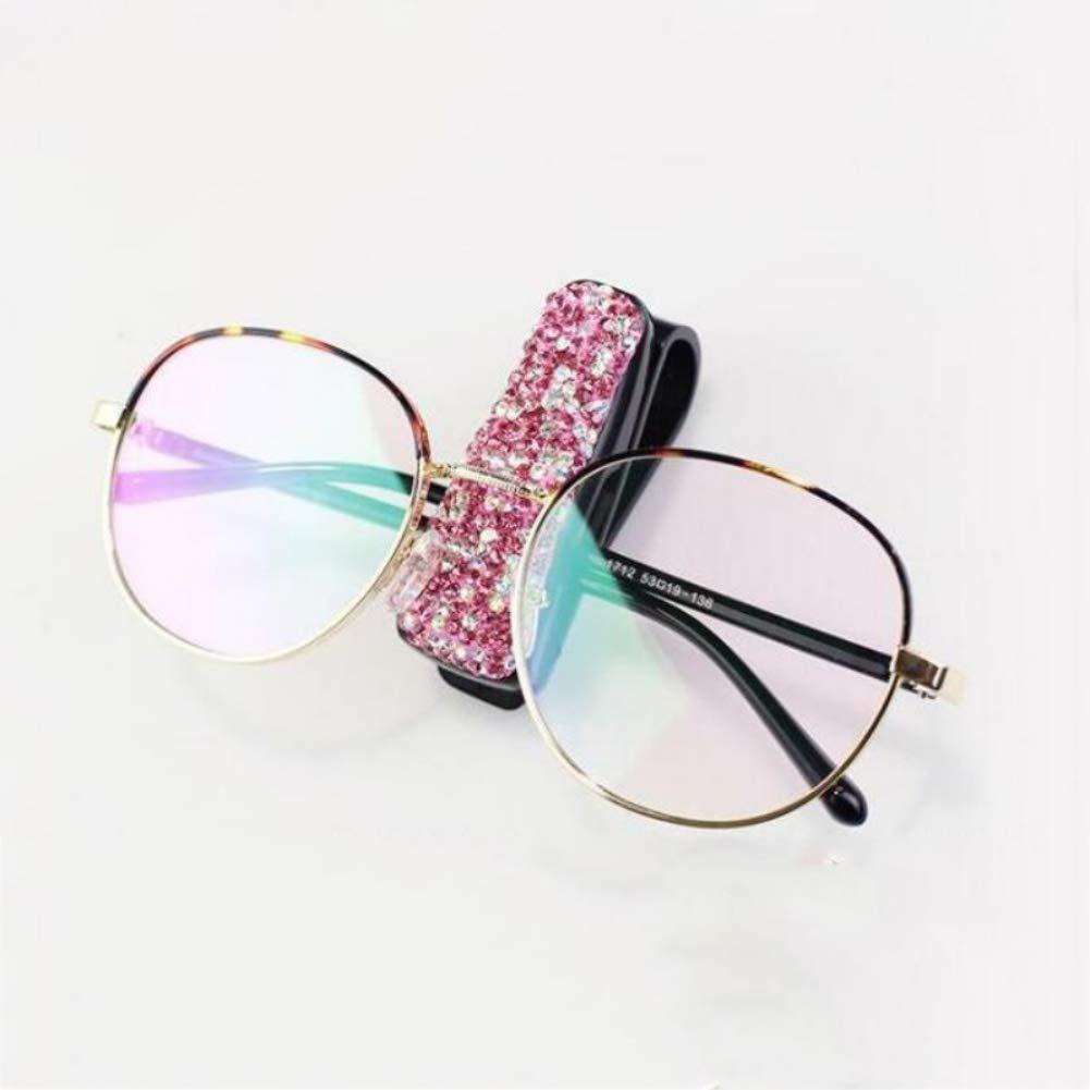 Car Fastener Clip White Rhinestone Diamond Car Sun Visor Glasses Sunglasses folder Ticket Receipt Card Clip Storage Holder