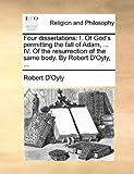 Four Dissertations, Robert D'Oyly, 1140755307