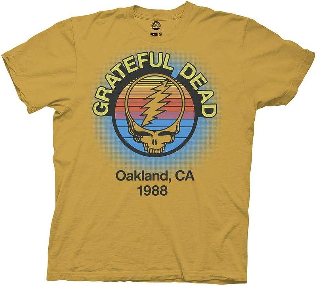 Ripple Junction Grateful Dead Adult Unisex Oakland 88 Light Weight 100% Cotton Crew T-Shirt