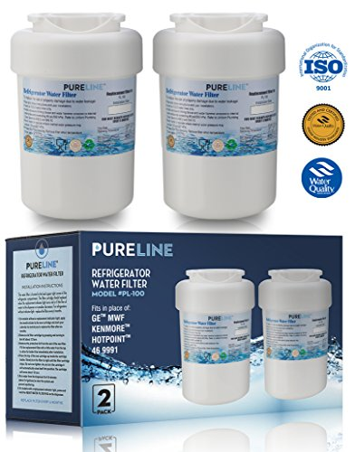 2pk Water Filter Cartridge - GE MWF Refrigerator Water Filter Smartwater Compatible Cartridge - By Pure Line (2 Pack)