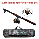 Shaddock Fishing Spin Spinning Fishing Rods and Reels Combos Waterproof Fishing Travel Tackle Bag Case Portable Adjustable Fishing Rod Reel Combo Kit