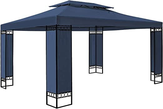 Deuba Carpa Elda Color Azul 3x4 m cenador de Exterior Grande pabellón de jardín Repelente al Agua terraza: Amazon.es: Jardín