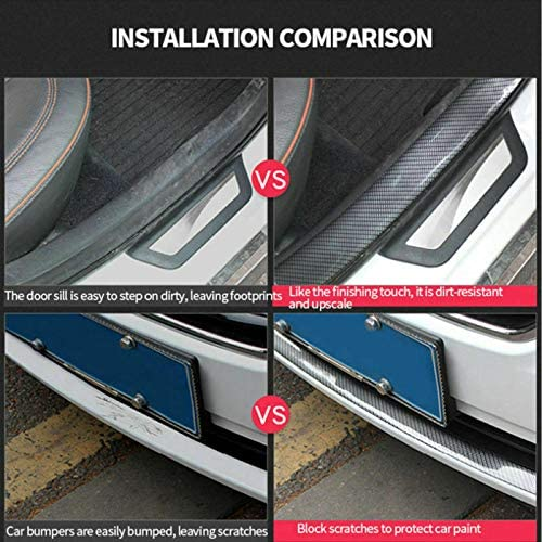 5CM*2M Car Carbon Fiber Rubber Edge Guard Strip Door Sill Protector Accessories