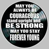 Forever Young Song Lyric Art inspired by Bob Dylan