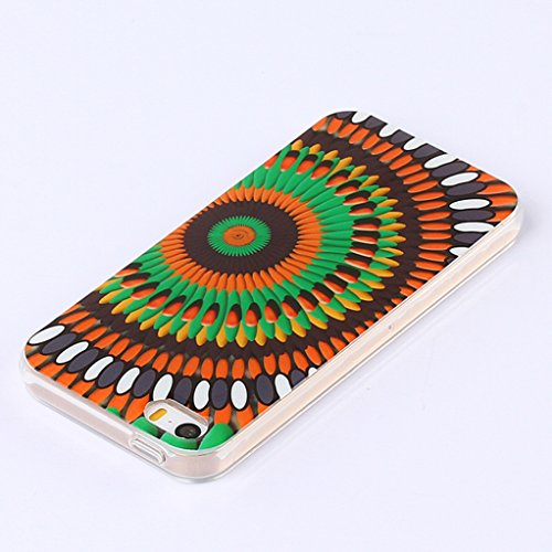 Funda iPhone 5S, Yunbaozi iPhone SE Case Carcasa de Silicona Suave Protective Case * Patrón Interior Nunca Despegue * Funda Caucho TPU Piel Flexible Suave Cáscara Delgado Ligero - Anti-rasguños Anti C Caleidoscopio