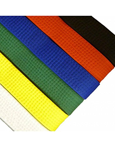 BlackBeltShop Solid Rank Karate Martial Arts and TaeKwonDo Belts Yellow size 1 (Karate Taekwondo)