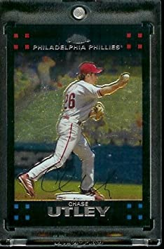 2007 Topps Chrome 131 Chase Utley Phillies Baseball Card