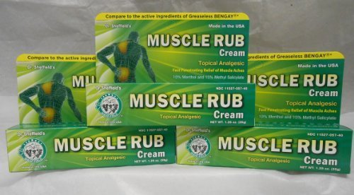 Analgesic Muscle Rub Cream Generic for Bengay Greaseless 1.25 oz. 3 PACK by Dr. Sheffield's