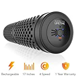 American Lifetime Vibrating Foam Roller - 17 Inch 4-Speed Rechargeable High-Intensity Deep Tissue Massager for Recovery, Pliability Training and Physical Therapy + Bonus Carrying Bag - 1 Year Warranty