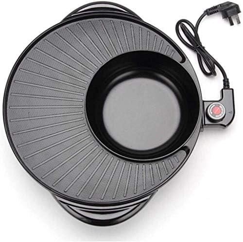 Électrique Shabu Shabu Hot Pot avec BBQ, Gril électrique super Grand médical Pierre électrodomestiques cuisson électrique Tin poêlon, for 5-6 Personne famille Rassemblements