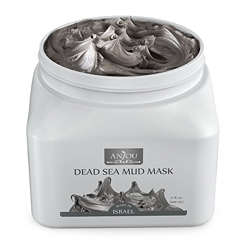 (Anjou Dead Sea Mud Mask, Made in Israel, Deep Pore Cleansing and Detoxifying for Face and Body, 100 Natural Mineral-Rich Mask 17oz 500mL)