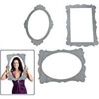 Silver Glitter Picture Frame Cutouts - 3 Piece Set - 16 X 23