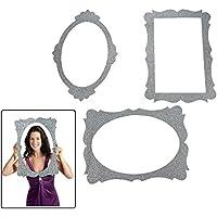 Silver Glitter Picture Frame Cutouts - 3 Piece Set - 16 X 23