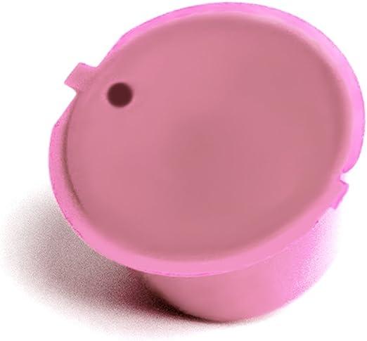Adaptador de cápsula recargable para máquinas Nestlé Dolce Gusto, soporte para cápsulas de café buena alternativa reutilizable Tamaño libre rosa: Amazon.es: Hogar