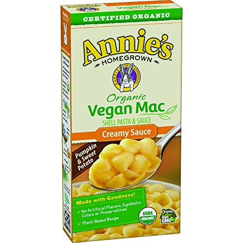 (Annie's Organic Vegan Shells & Creamy Sauce Macaroni & Cheese, Non- Dairy, 12 Boxes, 6oz (Pack of 12))