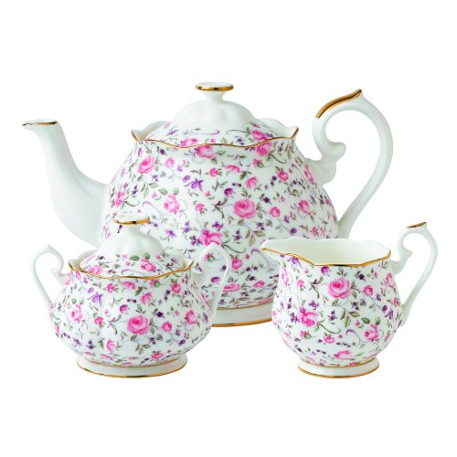 Royal Albert 8704025823 New Country Roses Rose Confetti Teaset, 3-Piece (Royal Tea Set Doulton)