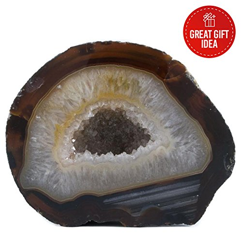 Agate Geode With Sparkly Crystals. Home Decor Rock From Brazil. Aprox. Weight: 1lb to 3lb