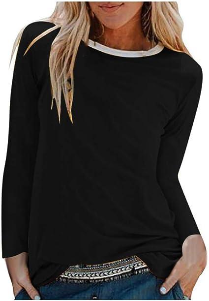 Camiseta Sin Mangas con Cuello Redondo Y Manga Larga Suelta con Estampado De Diente De LeóN para Mujer De OtoñO: Amazon.es: Ropa y accesorios
