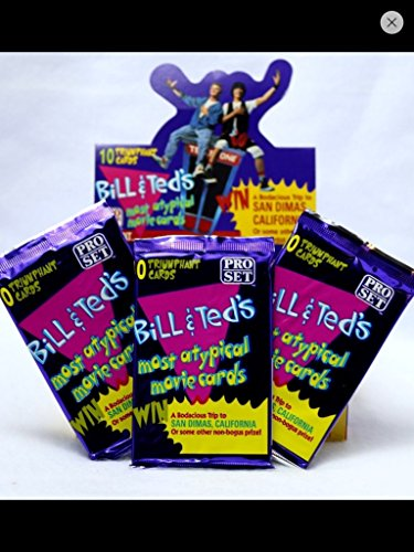 ((1) Box 1991 Pro Set Bill & Ted's Most Atypical Movie Cards Trading Card Box (36) Unopened Packs Non-sport)