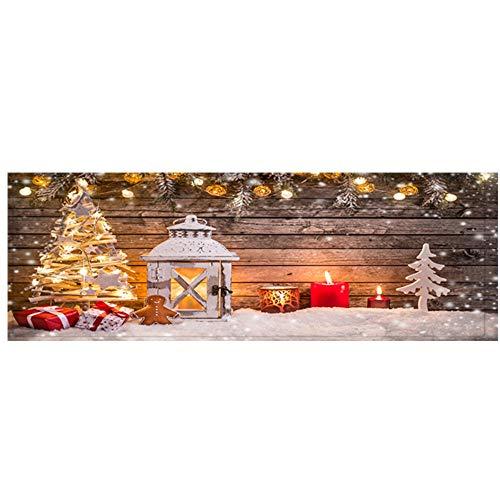Cathy Clara Merry Christmas Doormat Welcome Door Mat Rug Indoor/Outdoor Mats Decor Rug for Home/Office/Bedroom 40x120CM (G)