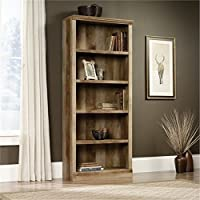 Bowery Hill 5 Shelf Bookcase in Craftsman Oak