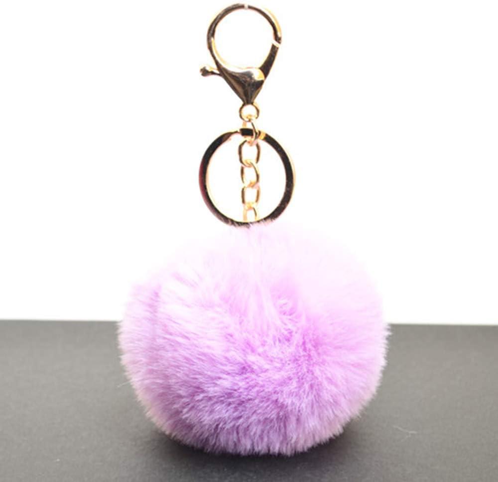 Fesjoy 1 Pcs Simple Porte-cl/és Faux Boule De Boule 8 cm Souple Porte-cl/és Pompom Sac /À Main Sac /À Main Sac /À Dos Keyring Vert