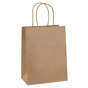 6616efd3f01ce Paper Bags 8x4.25x10.5 100Pcs BagDream Gift Bags, Party Bags, Shopping  Bags, Kraft Bags, Retail Bags, Party Bags, Brown Paper Bags with Handles  Bulk