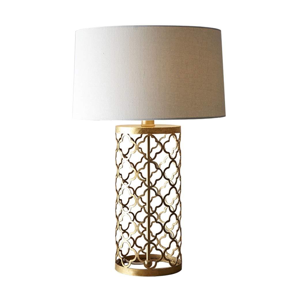 Simple Bronze Creative Warm Romantic Bedroom Lamp Retro Model Room Large Table Lamp Bedroom Living Room Decoration Bedside Lamp