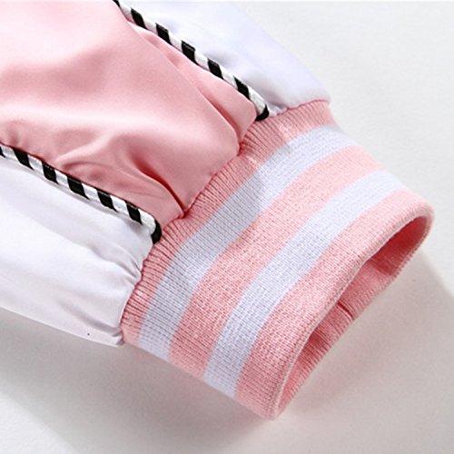 Bold Veste Blazar Sport Hiver Baseball Manner Longue Rose Manche Outwear Printemps Femme Homme Jacket awagRUnq