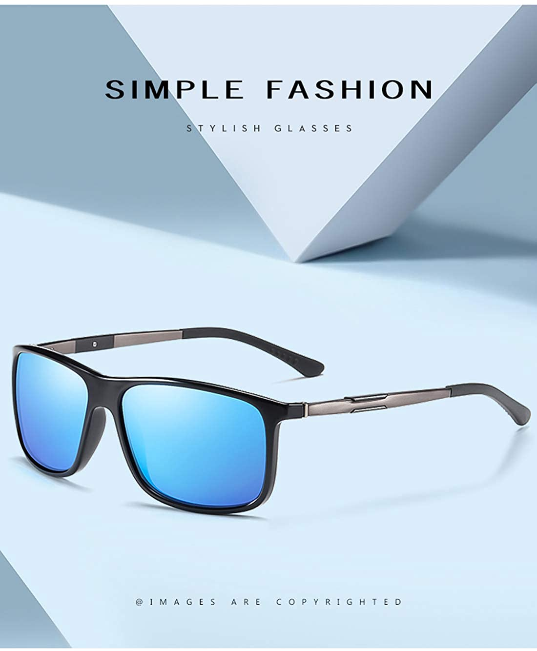 ROUPAI New Classic Square Polarized Sunglasses Men Women Driving Shades Male Sun Glasses for Men Leopard Frame