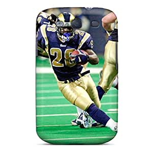 Protective Cell-phone Hard Covers For Samsung Galaxy S3 With Provide Private Custom Lifelike St. Louis Rams Pattern JasonPelletier