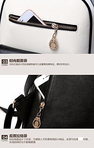 Women Rice BMKWSG Bag Shoulder Bag Daypacks cover PU School Travel Backpack Leather white Girls PdwXZqrd