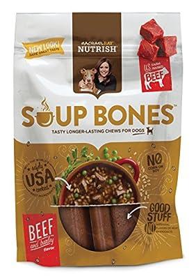 Rachael Ray Nutrish Soup Bones Dog Treats, Real Beef & Barley Flavor, 6 Bones, 12.6 oz by DAD's Products Co, Inc.