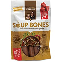 Rachael Ray Nutrish Soup Bones Dog Treats, Real Beef and Barley Flavor, 12.6 oz. Bag