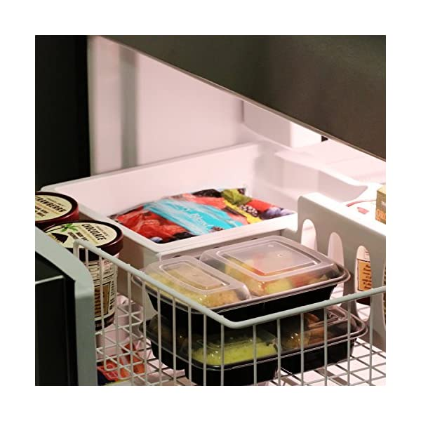 [20 Pack] Microwaveable Meal Prep food Container with Airtight Lid-Leak Proof, Reusable, Freezable, BPA-free Bento Lunch Boxes (2 Compartment) 51jE9DsTZvL