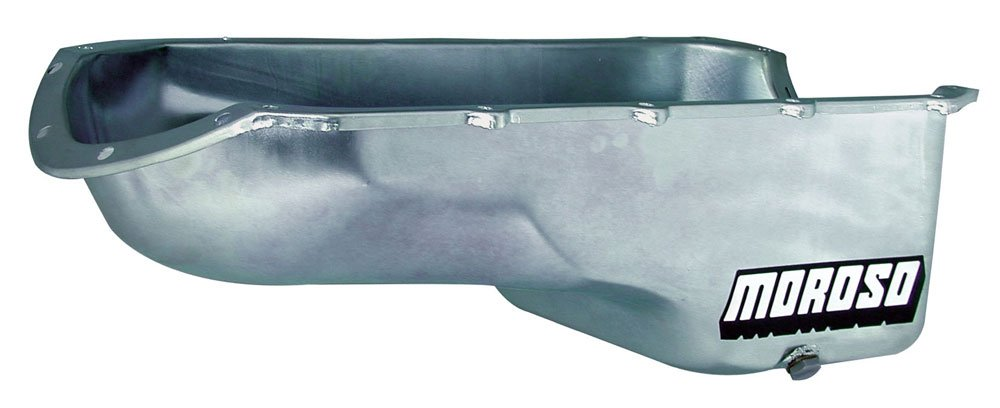 Moroso 20492 7-1/8' Stock Replacement Oil Pan for Pontiac 301-455 Engines