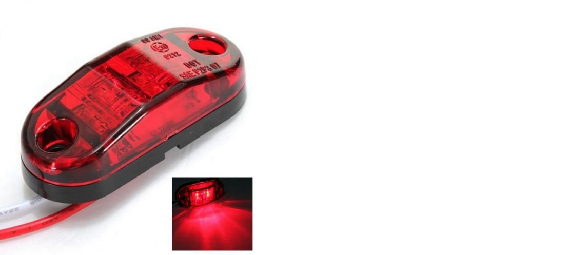 Other 2 X 12V 2 LED SMD RED REAR SIDE MARKER LIGHT POSITION TRUCK TRAILER E-MARKED DOT unbranded