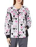 Cherokee Women's Tooniforms - Disney Zip Front Knit Panel Warm-Up Jacket