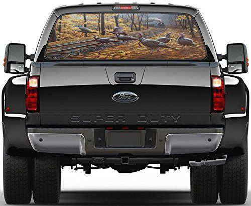 Wild Turkey Forest Rear Window Graphic Decal Sticker Car Truck SUV Animals 330, Custom
