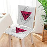 Mikihome 2 Piece Set Chair Pad Traditial Mexican Sugar with Sacred Triangle Culture Home Soft Seat Comfortable,Living Room Mat:W17 x H17/Backrest:W17 x H36