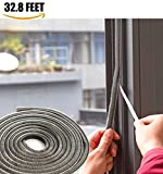 weather seal window - SRHOME 32.8 ft Self Adhesive Seal Strip Weatherstrip for Window,Door,Wardrobe,Car,Perfect to Windproof Shelter From The Wind,Dustproof,Pest Control,Soundproof Sound Deadener (0.35